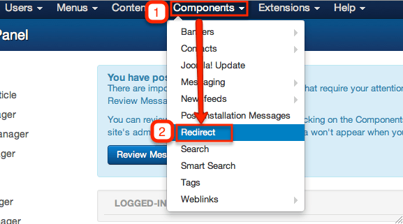 Joomla! redirect component