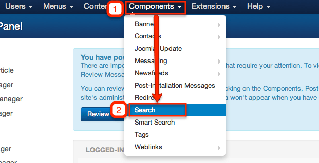 Joomla! search component